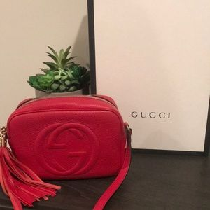 Gucci Red Soho Crossbody.
